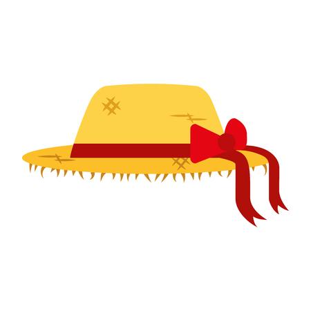 vrouwelijke boer hoed pictogram vector illustratie ontwerp