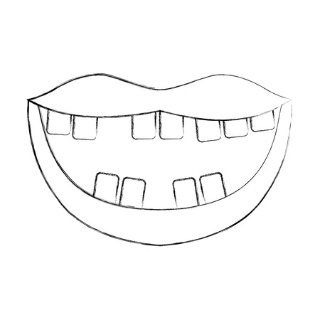 Mouth with bad teeth vector illustration design Ilustrace