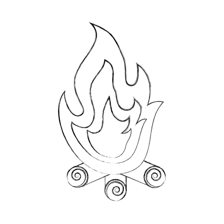 campfire flame isolated icon vector illustration design Ilustrace