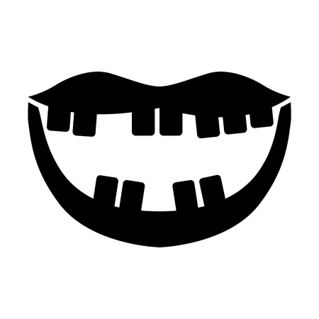 Mouth with bad teeth vector illustration design Фото со стока - 79889750