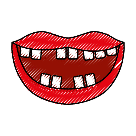 Mouth with bad teeth vector illustration design Фото со стока - 79889775