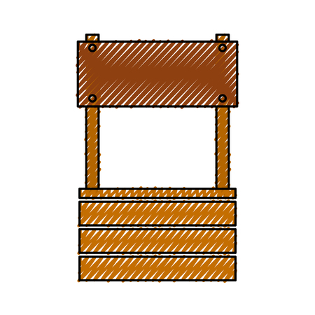 Bauernhof fount isoliert Symbol Vektor-Illustration Design