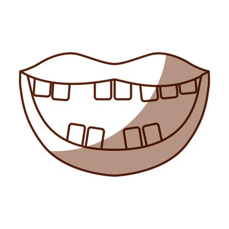 口の中で悪い歯ベクトル イラスト デザイン  イラスト・ベクター素材