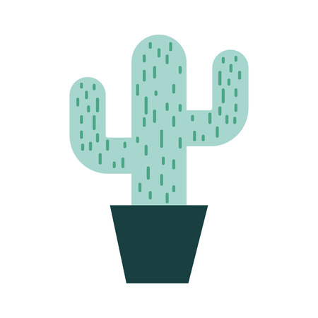 cactus office plant isolated icon vector illustration design