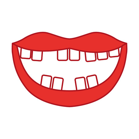 Mouth with bad teeth vector illustration design Illustration