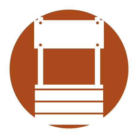 farm fount isolated icon vector illustration design Çizim