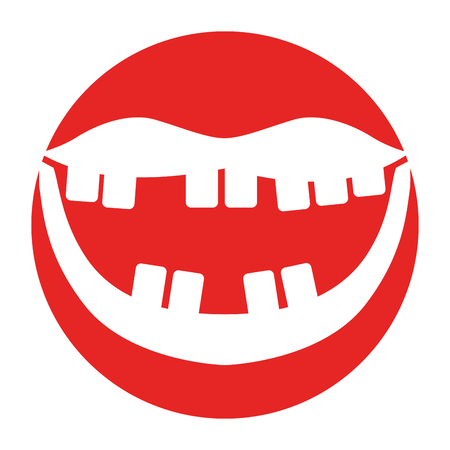 Mouth with bad teeth vector illustration design  イラスト・ベクター素材