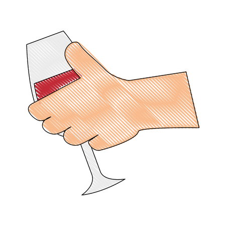 wine drink cup vector illustration graphic design icon