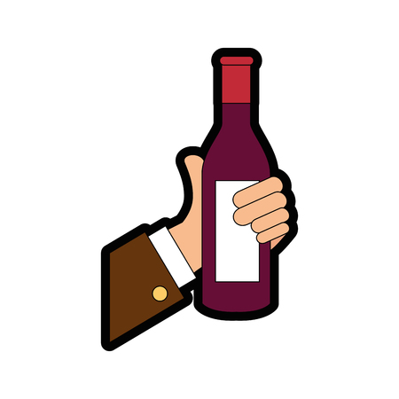 drink bottle hand vector illustration graphic design icon