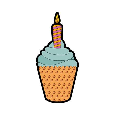 ice cream candle vector illustration graphic design icon