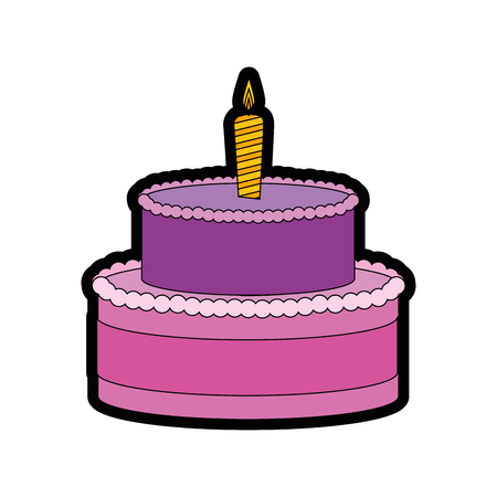 gateau cake sweet vector illustration graphic design icon