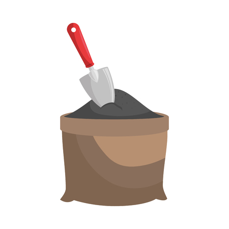 sand grit shovel vector illustration graphic design icon
