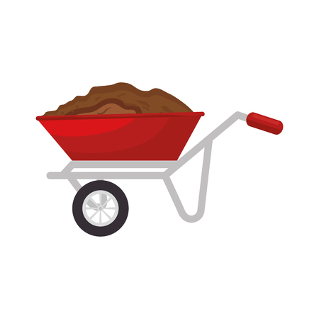 tubular barrow sand vector illustration graphic design icon Ilustração