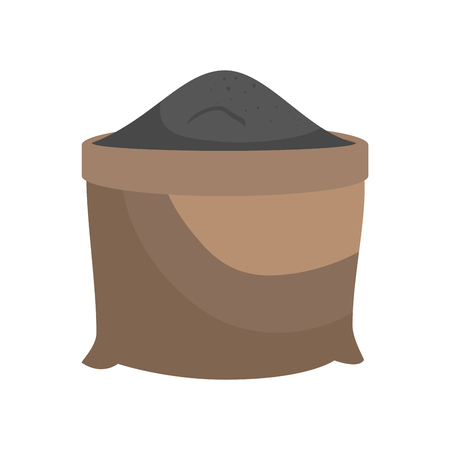 sand grit sack vector illustration graphic design icon Illustration