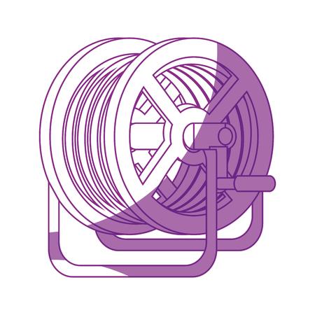 hose reel icon over white background vector illustration Illustration