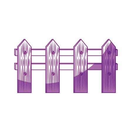 wooden fence icon over white background vector illustration Ilustração
