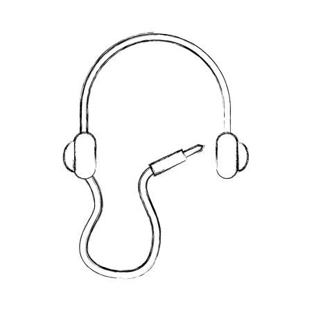 earphone device isolated icon vector illustration design