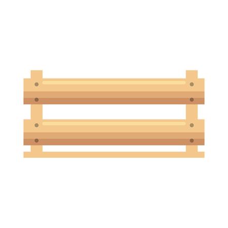 wooden box icon over white background vector illustration Çizim