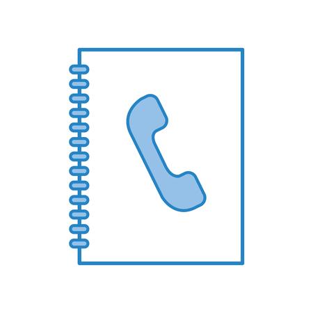 telephonic agend isolated icon vector illustration design Illustration