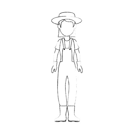 gardener woman icon over white background vector illustration