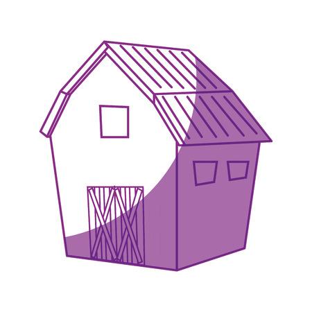 farm barn icon over white background vector illustration Çizim