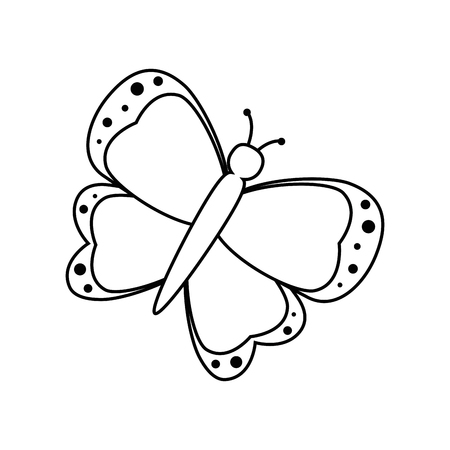 beautiful butterfly icon over white background vector illustration
