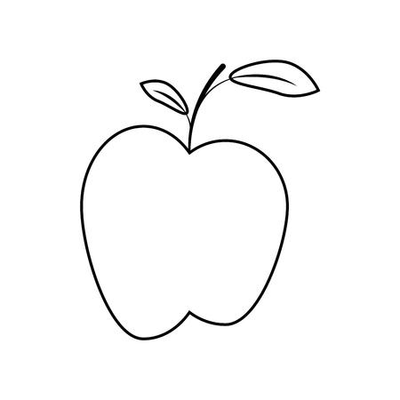 Apple fruit pictogram over witte achtergrond vectorillustratie