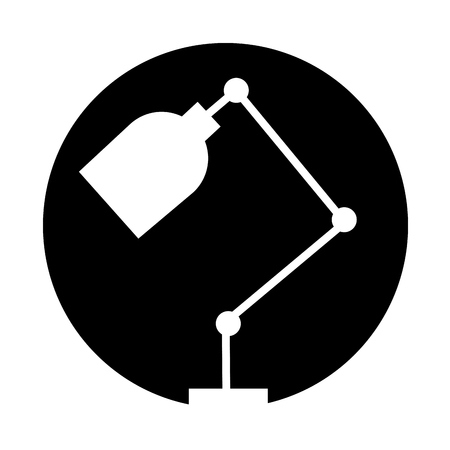 office desk lamp isolated icon vector illustration design