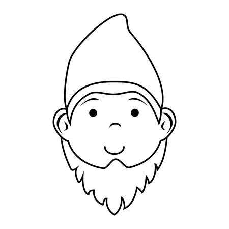 gnome icon over white background vector illustration