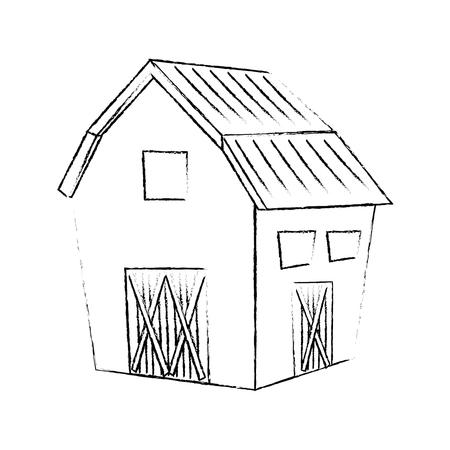 farm barn icon over white background vector illustration Stok Fotoğraf - 79892553
