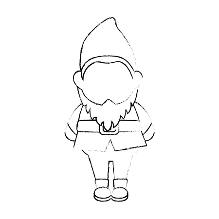 Gnome icoon over witte achtergrond vector illustratie