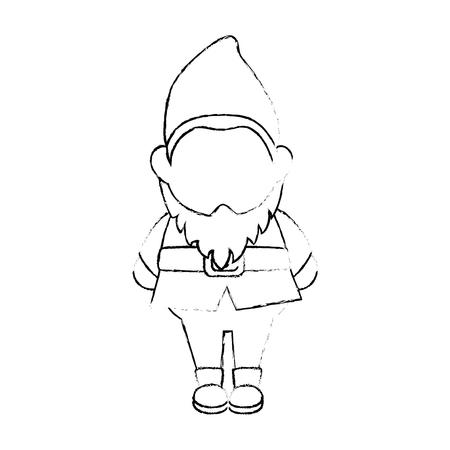 Gnome-Symbol auf weißem Hintergrund Vektor-Illustration Standard-Bild - 79892554