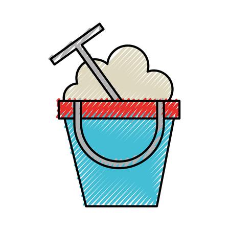 scribble cute sand jar cartoon vector graphic design