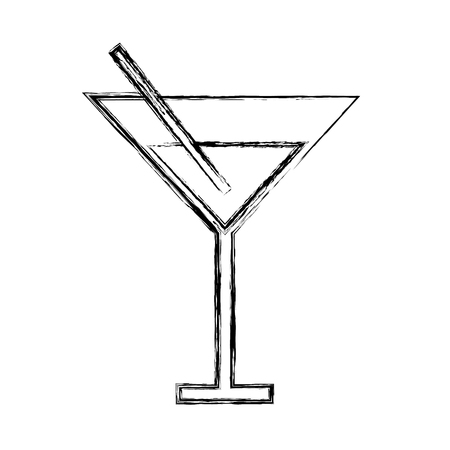 rum: sketch draw cute cocktail cartoon vector graphic design Illustration