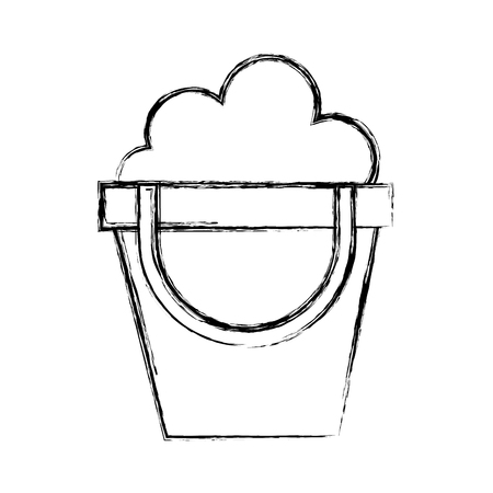 sketch draw cute sand jar cartoon vector graphic design