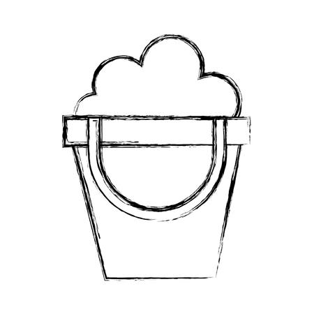 sketch draw cute sand jar cartoon vector graphic design