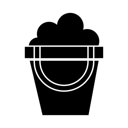 black icon cute sand jar cartoon vector graphic design Illustration