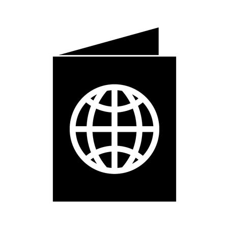 黒いアイコン パスポート漫画ベクトル グラフィック デザイン