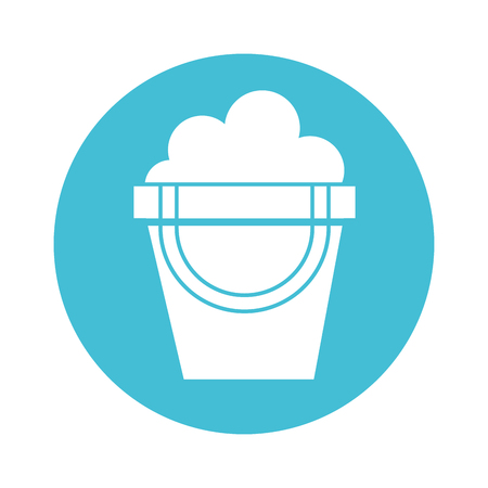 round icon cute blue sand jar cartoon vector graphic design