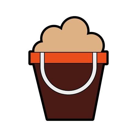 color cute sand jar cartoon vector graphic design