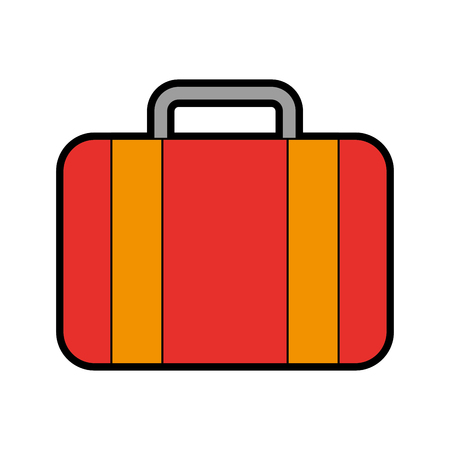 color red suitcase cartoon vector graphic design