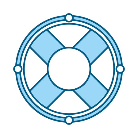cute blue lifebuoy icon cartoon vector graphic design Illustration