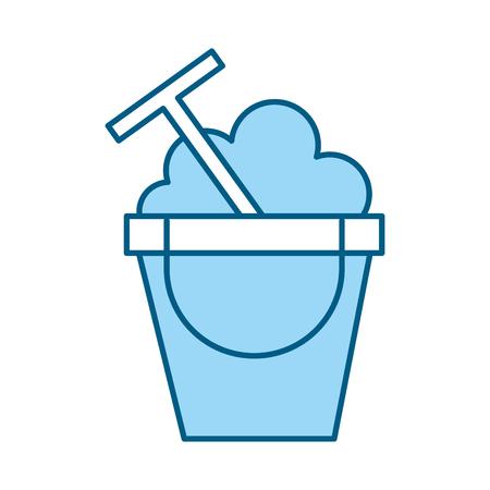 A blue sand jar cartoon vector graphic design Ilustrace