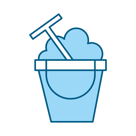 A blue sand jar cartoon vector graphic design Illustration