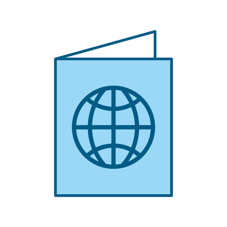 color blue passport cartoon vector graphic design
