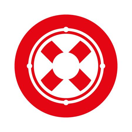 round icon lifebuoy icon cartoon vector graphic design