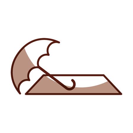 shadow cute brown summer elements cartoon vector graphic design