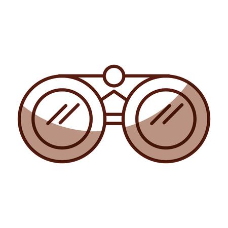 shadow brown binoculars cartoon vector graphic design