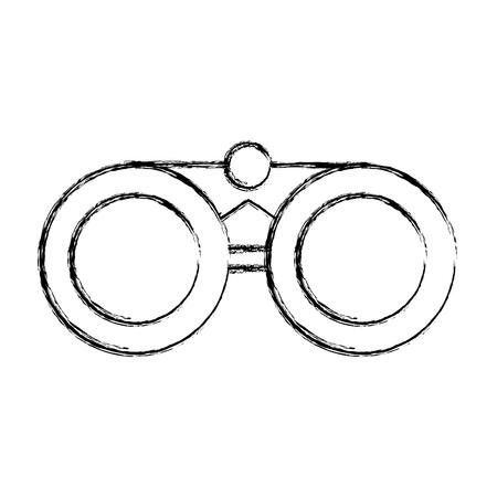 sketch draw binoculars cartoon vector graphic design Çizim
