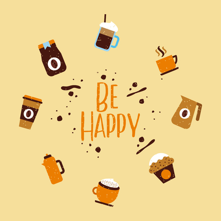 icons set coffee delicious flat illustration vector design graphic icon 版權商用圖片 - 79923317